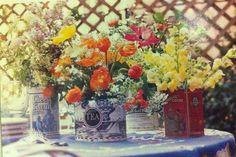 Flower arranging via Women's Day special interest publications Decorating Ideas, Summer 1996.