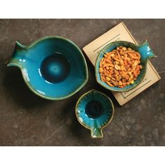 #Turquoise |Ceramic Fish Bowls | 3 | by Charming Accessories For Any Space.