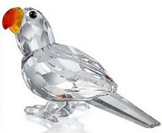 "I own this beauty "") ~KW~ Swarovski Crystal Figurines, Swarovski Crystals, Cut Glass, Glass Art, Crystal Kingdom, Parrot Feather, Glass Figurines, Glass Animals, Leaded Glass"