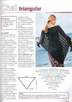 Crochet Shawl with diagram (so easy)