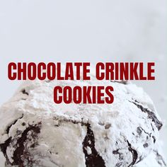 Chocolate Crinkle Cookies - sweet, easy and the BEST chocolate crinkle cookie recipe with butter, cocoa and powdered sugar. Great for Christmas holidays! Chocolate Crinkle Cookies, Chocolate Crinkles, Easy Dinner Recipes, Sweet Recipes, Holiday Recipes, Chocolate Cake Video, Cookie Recipes, Dessert Recipes, Recipe Boards