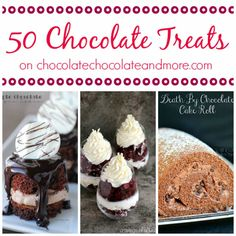 If Chocolate is your love, you will find plenty of ways to indulge from dip to cookies to pie to cake! Big bites, little bites, decadent bites, and skinny bites. There are 50 ways to love chocolate here! Enjoy 50 Chocolate Treats from some of your favorite blogs! Heath Bar Chocolate Cake from I Am...