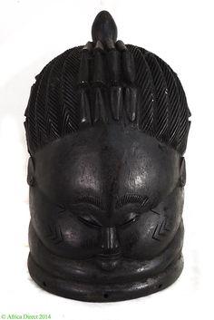 Mende Helmet Mask Sowei Sande Society Liberia Africa