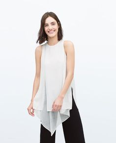 Image 1 of DOUBLE LAYER TOP from Zara