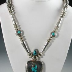 Navajo Coral/Turquoise Necklace by Marco Begaye