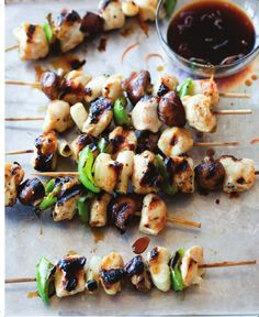Chicken and Vegetable Yakitori from The Gluten-Free Asian Kitchen by Laura B. Russell