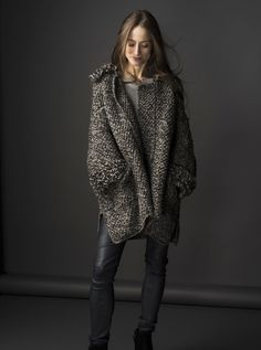 HANIA by Anya Cole Copellia Ski Cardigan with Vanderbilt Trim Fall/Winter 2015