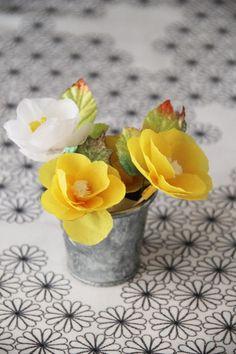 cafe noHut: Kağıttan Çiçek Yaptım...