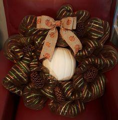 Fall pumpkin wreath @ja.decorandmore