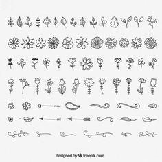 Decoration And Floral Ornaments – Bullet Journal Doodle Drawings, Doodle Art, Doodle Images, Easy Drawings, Bullet Journal Inspiration, Bullet Journal Design Ideas, Bullet Journal Decoration, How To Draw Hands, Journals