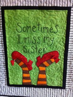 Closer image of quilt piece. It cracks me up every time I look at it!!