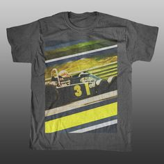 Tyrrell P34 - Formula 1 - Grunge Big Print T-shirt | Unlap | motorsport merchandise | formula 1 t-shirts | btcc gifts