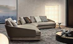Sofa Furniture, Furniture Design, Minotti Furniture, Sofa Design, Interior Design, Small Lounge, Style Haute Couture, Woodworking Furniture Plans, Curved Sofa