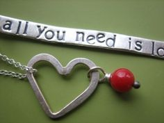 All You Need is Love Necklace by sudlow on Etsy, $36.00