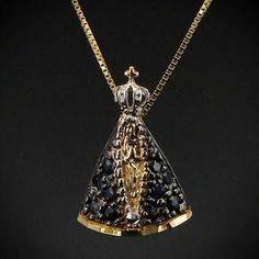 Pingente Nossa Senhora De Aparecida Com Corrente Veneziana - R$ 629,00