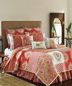 Look at this #zulilyfind! Red Kalani Quilt by Nostalgia Home #zulilyfinds  LOVE for a guest room