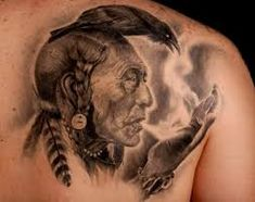 What does indian tattoo mean? We have indian tattoo ideas, designs, symbolism and we explain the meaning behind the tattoo. Indian Tattoos For Men, Cherokee Indian Tattoos, Native Indian Tattoos, Western Tattoos, Native American Tattoos, Chaman Tattoo, Body Art Tattoos, Sleeve Tattoos, Tatoos