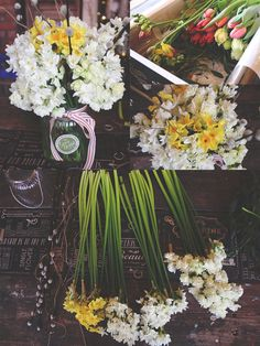Arranging Spring Flowers in our Great British Florist shop!
