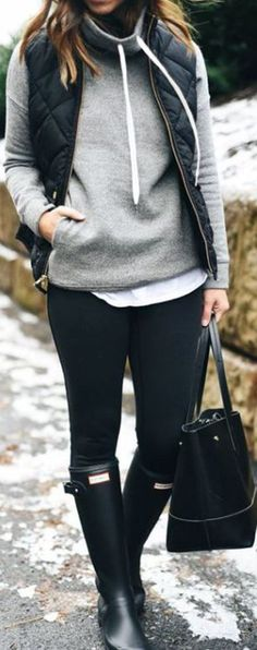 New Fashion Teenage Girls Winter Leggings Ideas Cold Outfits, Winter Outfits Casual Cold, Cute Rainy Day Outfits, Winter Outfit For Teen Girls, Outfits For Teens, Sport Outfits, Casual Outfits, Cold Weather Outfits For School, Rainy Day Outfit For Spring