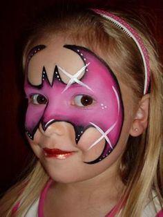 bat girl face paint - Google Search