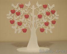 Bilu Bilu Artes: Árvore em mdf com maçãs