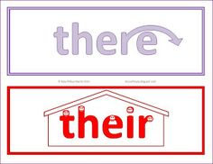 Free Illustrated Homophone Word Cards