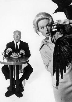 Alfred Hitchcock & Tippi Hedren.