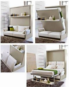 To save space, turn your sofa into a bed.