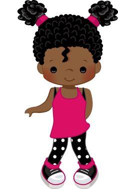 Black Girl Art, Black Women Art, Black Kids, Black Art, Art Girl, Unicorn Farts, Baby Boy Scrapbook, Cute Clipart, Bottle Cap Images