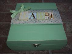 Baby Memory Keepsake Box by EspeciallyMade on Etsy