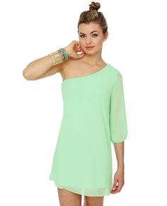 http://www.lulus.com/products/c-mon-get-happy-one-shoulder-mint-green-dress/48013.html