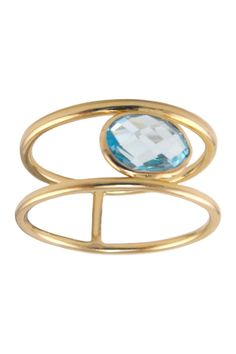 Topaz Double Band Ring