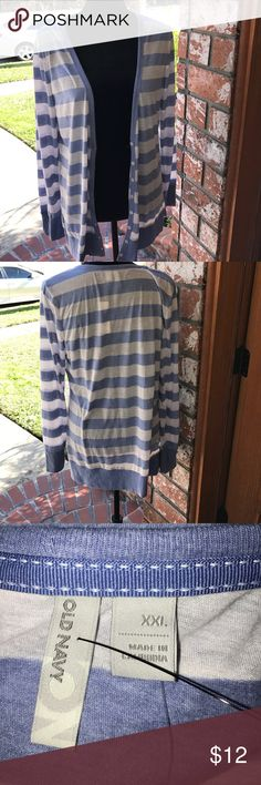 Blue and white striped light weight cardigan Light weight buttoned down cardigan old navy Tops