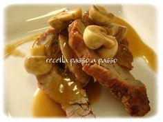 Receita passo a passo: Fraldinha ao molho madeira com champignons / Flank Steak in Madeira Sauce with champignons