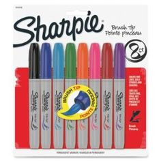 Sharpie Brush Tip Permanent Markers SAN1810703