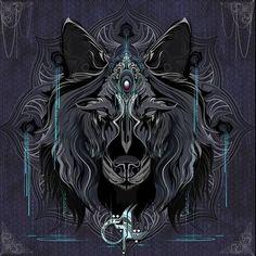 Aquarian Wolf ~ The Art of Chris Saunders