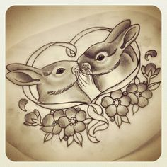 these adorable bunnies would make a cool thigh tattoo!