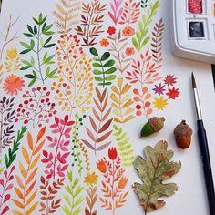 Watercolor love on Pantone Canvas Gallery