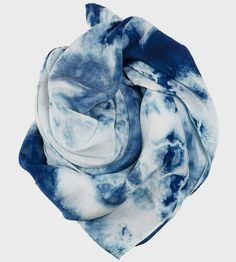 Step out in style with this handmade indigo silk scarf.