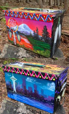 Not your typical ammo can! GC3R8RN is a hand-painted gem.