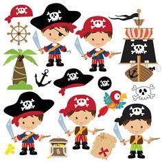 Pirate Boy, Pirate Theme, Pirate Birthday, Mermaid Birthday, Granny Joy, Pirate Illustration, Pirate Crafts, Free Vector Art, Handmade Crafts