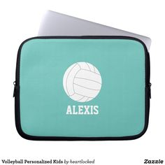 Shop Volleyball Personalized Kids Laptop Sleeve created by heartlocked. Neoprene Laptop Sleeve, Laptop Sleeves, Hp Spectre Laptop, Kids Computer, Team Coaching, Computer Sleeve, Custom Laptop, Front Bottoms, School Boy