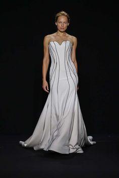 c59eaf70c8d5 Abito bianco e nero Wedding Dresses Photos, White Wedding Dresses, Wedding  Dress Trends,