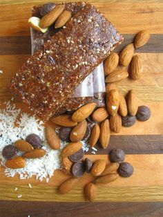 No Bake Coconut Almond Bars Recipe. ☀CQ #glutenfree