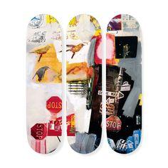 ロバート・ラウシェンバーグ:スケートボード Tryptch Overdrive