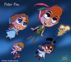 Et voici le Chibi annoncé : Peter Pan, le long-métrage Disney. And here is the Chibi announced: Peter Pan, the Disney feature. Disney Pixar, Disney Fan Art, Walt Disney Animation, Disney E Dreamworks, Chibi Disney, Walt Disney Characters, Film Disney, Disney Cartoons, Disney Magic
