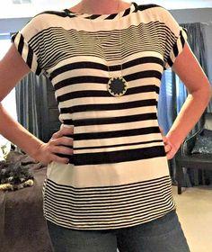 June 2015 Stitch Fix Review: Tart Maliah Striped Tee