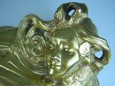 F. Madurell Art Nouveau Gilded Jewelry Casket