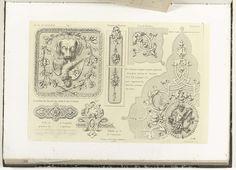 Zeven ornamenten voor een interieur, Charles Claesen, ca. 1866 - ca. 1900