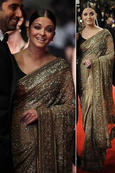 Aishwarya Rai in Sabyasachi Saree, Cannes 2011